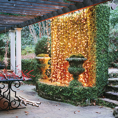 Christmas Decor Ideas #1: twinkling lights l